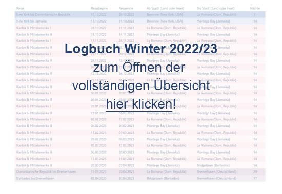 Logbuch Winter 2022/23