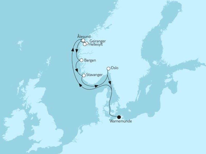 Norwegen mit Geirangerfjord & Oslo