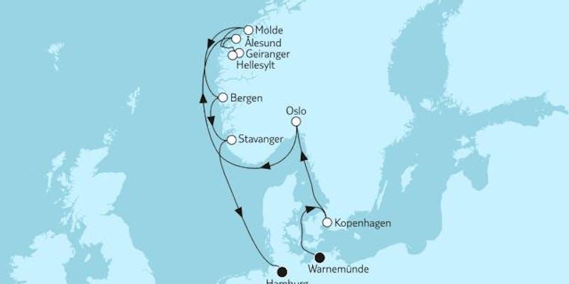 Norwegen mit Geirangerfjord & Stavanger