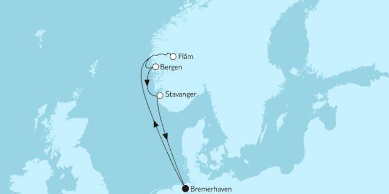 Norwegen mit Flam