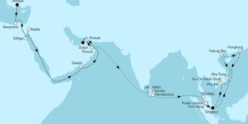 Große Weltentdecker-route I