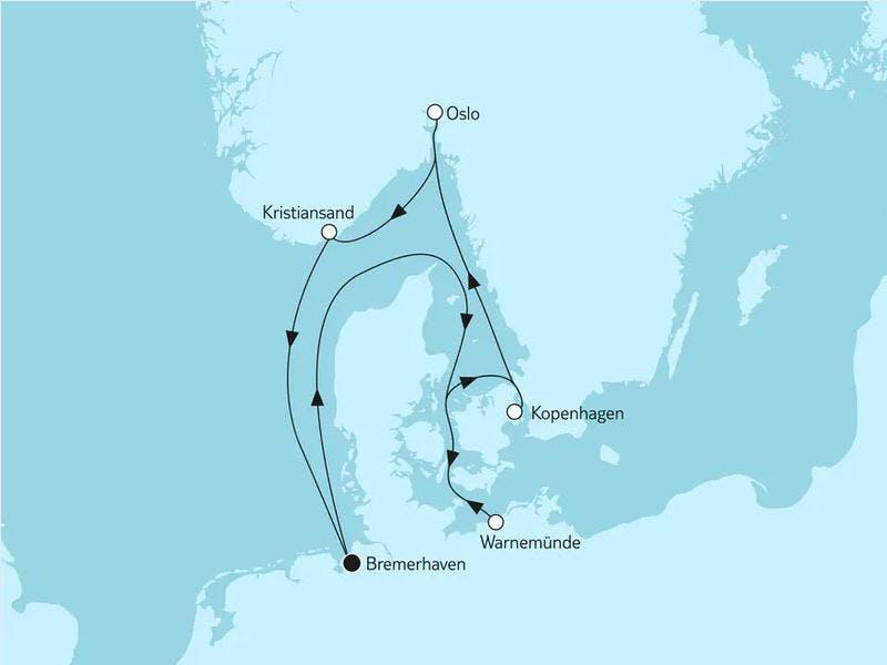Norwegen mit Kopenhagen